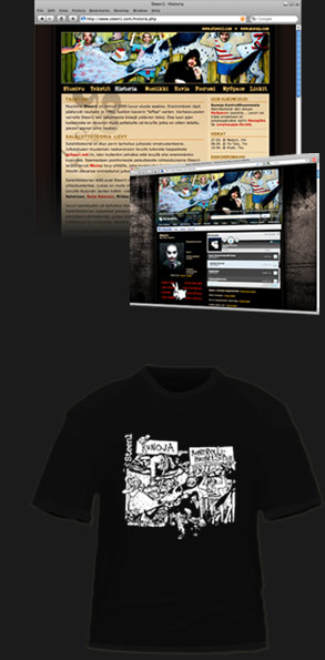 Steen1: Runoja kontrollihuoneesta website and t-shirt
